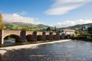 The bridge into Crickhowell © Crown copyright (2011) Visit Wales
