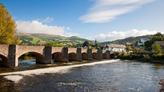 The bridge into Crickhowell © Crown copyright (2011) Visit Wales