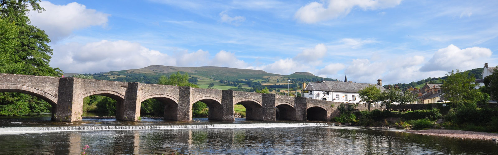 The bridge into nearby Crickhowell