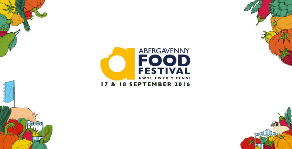 Logo for the Abergavenny food festival